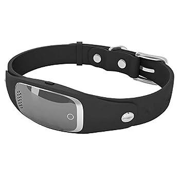 DjfLight Collier GPS pour Chat et Chien,Traqueur Micro imperméable de Collier d'anti-Perte, Chat, Vache, Mouton, Chien, pistage,Black