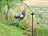 Ornamento da giardino a forma di gallo equilibramento di Adobe