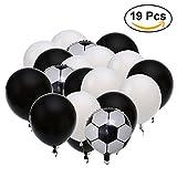 Descrizione Decorare come un campione con questi palloncini di partito di calcio del Latex. Questi palloncini in lattice vengono in un assortimento di colori divertenti e tutti hanno una grafica a sfera di calcio stampata che è sicuramente gr...
