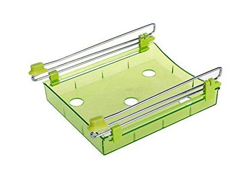 Cosanter Kühlschrank Schublade Organizer Space Saver Regal Halterung,Kühlschrank Storage Rack,Kunststoff(Grün) - 4 Regal Space Saver