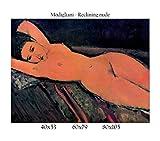 Stampa in Tela Canvas 100% qualità Italia - Modigliani - Reclining Nude Effetto Dipinto Idea Regalo Casa Quadro Cucina Stanza da Letto Soggiorno (60x79)