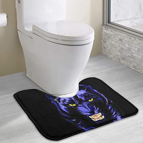 Bgejkos Seamless Art Print Carolina Panther Drawing U-Shaped Absorbs Moisture Non Slip Badezimmer Teppichs Toilet Carpet Floor Mat, 15.8