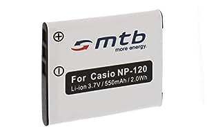 Batterie NP-120 pour Casio Exilim EX-S200, Z680, Z690, ZS10, ZS12, ZS15, ZS20