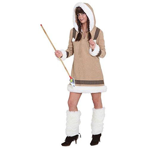 Kostüm Eskimo Eskimofrau - Eskimodame Eskimokostüm Inuit Damenkostüm Eskimokleid Fellkleid Fellkostüm Nordpol Kleid ()