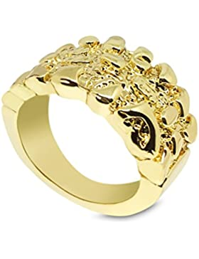 New vergoldet Nugget Stil Bling Ring uns Größe 8
