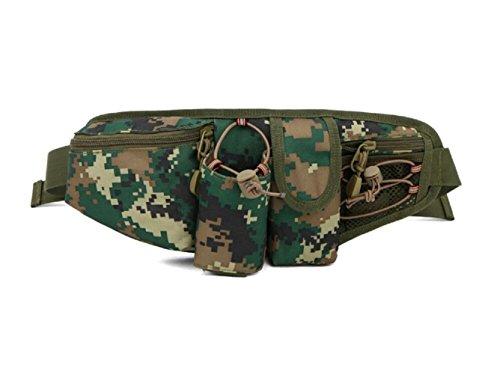 LJ&L Outdoor Sporttasche Tarnung wasserdichte Nylon Multifunktions-Taschen, tragbares Outdoor Wandern Picknick, Nylon Taschen langlebig A6