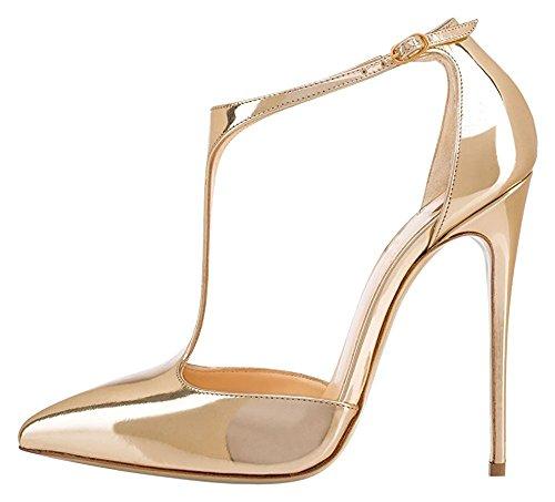 uBeauty - Scarpe da Donna - Scarpe col Tacco - Classiche Scarpe col Tacco - Scarpe Donna Tacco Oro