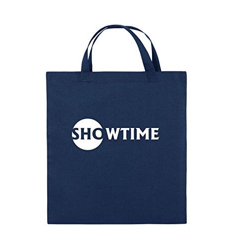 Comedy Bags - SHOWTIME - BILLIONS - Jutebeutel - kurze Henkel - 38x42cm - Farbe: Schwarz / Pink Navy / Weiss