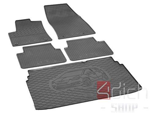 Passgenaue Kofferraumwanne und Gummifußmatten geeignet für OPEL Crossland X ab 2017 - EIN Satz