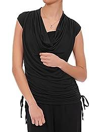 Laeticia Dreams Damen Top Shirt Wasserfall S M L XL