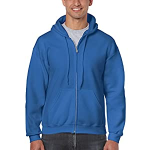 GILDAN Herren Kapuzenpullover Adult 50/50. Full Zip Hooded Sweat/18600, Einfarbig