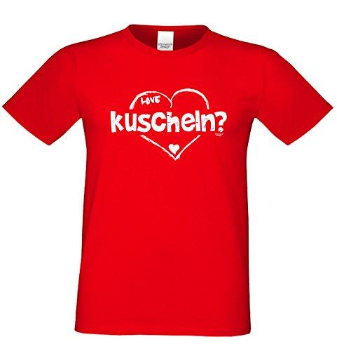 Vater, Vatertag, Vatertagsgeschenk T-Shirt Geschenkidee kuscheln für den weltbesten Papa auch in Übergrößen Farbe: rot Rot