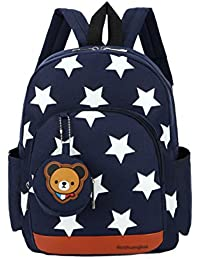 FlyingskyDurable Five-Pointed Star Bear Coin Purse Backpack for Kids
