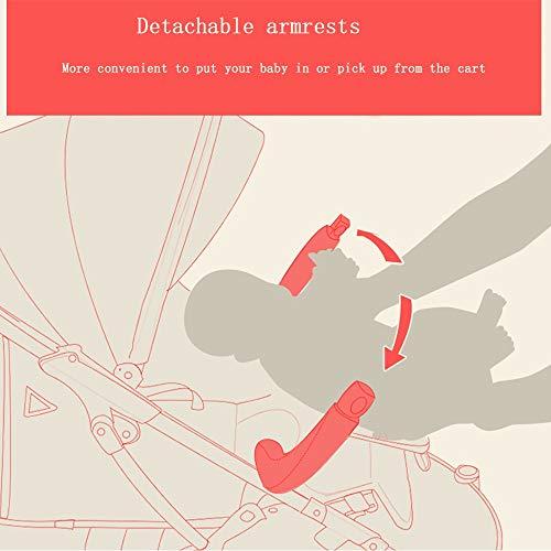 Carrito para Bebés Plegado para Niños Carrito De Bebé Ultraligero Bebé Se Puede Sentar Y Tumbar Carro Carro Paraguas Cómodo Puede Estar En El Avión (Color : Powder2)