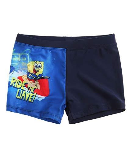 SpongeBob Jungen Badeshorts Badehose 2 Verschiedene Typen zur Auswahl, Farbe:dunkelblau, Größe:128