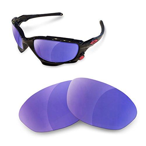 sunglasses restorer Kompatibel Ersatzgläser für Oakley Jawbone, Polarized Purple Mirror Gläser