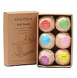 Set regalo bomba da bagno, sbiancante bolla cura della pelle doccia gel focolaio naturale organico sbiancante aromaterapia palla secca idratazione della sfera di sale 6 Pack