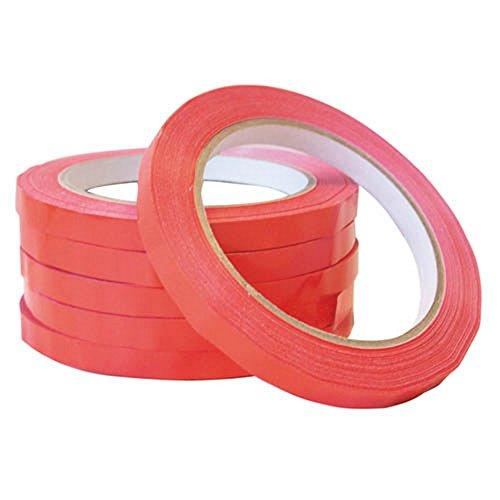 Smith & Bateson Tasche fadensiegelung Maschine Tape (Pack von 6), plastik, rot, Einheitsgröße