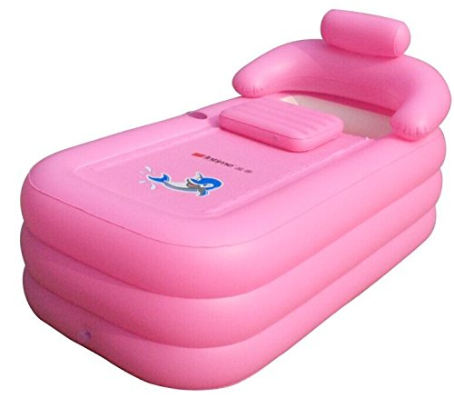 Intime Plegable Inflable Gruesas Adultos Calientes Bañera, Niños Piscina Inflable, Rosa