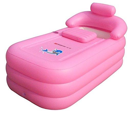 Intime Faltbare Schlauchboote Starke Warme Badewanne Erwachsene Kinder Aufblasbare Pool, Rosa
