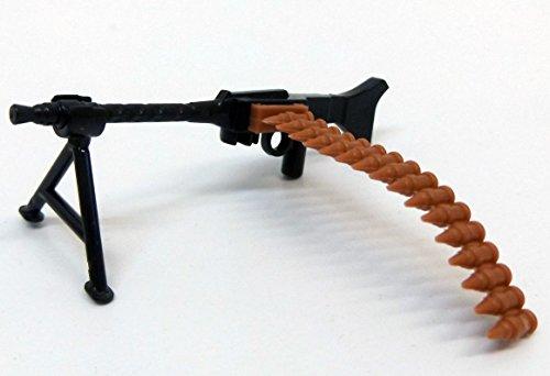 Modbrix 7625 – 10 x Maschinengewehr mit Patronengurt und Standfuß,Custom Waffen Set für Lego Figuren - 3