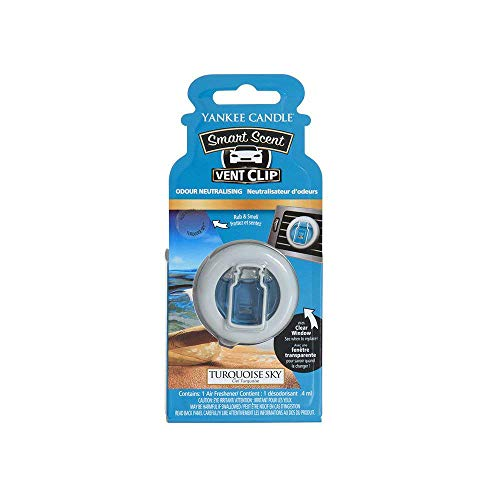 Yankee Candle 1507974E Auto-Lufterfrischer, Smart Scent Vent Clip, Turquoise Sky -