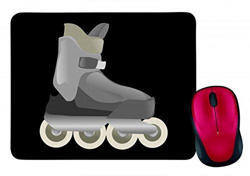 "Mauspad ""SKATE- INLINE- ROLLERBLADES- SKATEN- SPORT- FITNESS- BOOT- INLINE SKATING- ROLLERSKATING- SPAß- ERHOLUNG- "" in Schwarz | Mousepad - Mausmatte - Computer Pad - Mauspad mit Motiv"