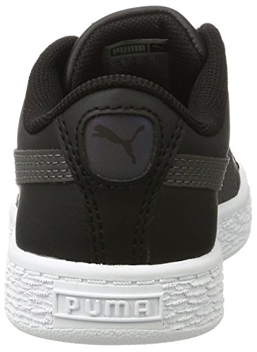 Puma Basket Swan V Ps, Sneakers Basses Mixte Enfant Noir (Puma Black-puma Black 01)