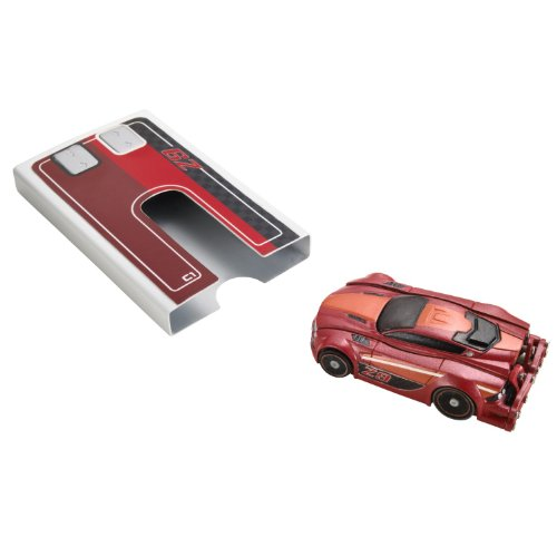 Hot Wheels - Stealth Rides Turbo Racer - voiture miniature radio commandée de poche - Rouge (Mattel V4535)