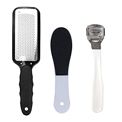 3 in 1 Pedicure Set- Foot Callus Remover Cuticle Double Sided Foot Rasp File Stainless Steel Foot File Hard Skin Remover Dead Rough Skin Callus Remover for Foot care