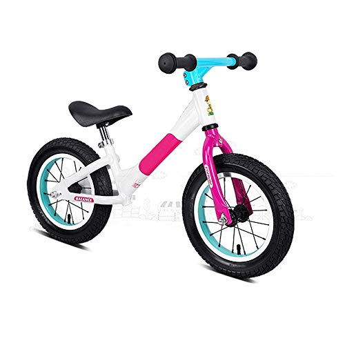 Bicicleta de equilibrio para los niños pequeños Ligeros de 12 Neumáticos resto aluminio bicicleta de carreras con aire de goma antideslizante manillar No empuje el pedal y bicicletas niños y los niño