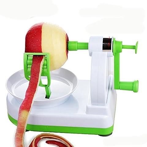 Fruit Peeler, SANNIX Apple Peeler Divider Set of 2 with Bonus Apple Pear Corer and Divider Slicer Splitter Julienne Fruit Peeler Cutter