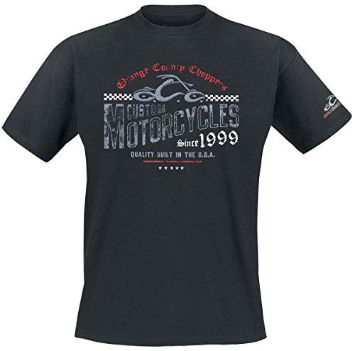 Orange County Choppers Herren T-Shirt Custom Motorcycles, Farbe:Black, Größe:2XL
