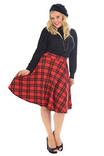 Tartan Skater Skirt Red 16 Red Tartan Skirt