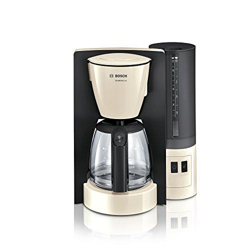 Bosch TKA6A047 ComfortLine Filterkaffeemaschine (1200 Watt, Glas-Kanne, automatische Abschaltung) Creme/black Grey