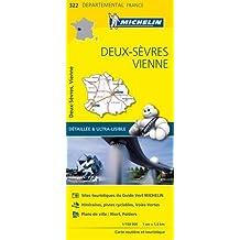 Carte Deux-Sèvres, Vienne Michelin