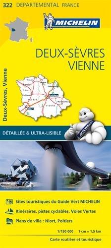 Carte Deux Sevres Vienne Michelin 332EUR Acheter Sur