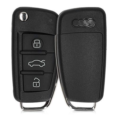 kwmobile Gehäuse für Audi Autoschlüssel - ohne Transponder Batterien Elektronik - Auto Schlüsselgehäuse für Audi 3-Tasten Klappschlüssel