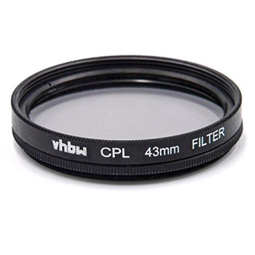 vhbw Universal CPL-Pol-Filter 43mm für Kamera Canon EF-M 22 mm 2.0 STM, Fujifilm XF 35 mm F2 R WR.