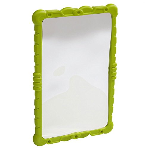 WICKEY HaHa Spiegel - Verzerrspiegel, Lachspiegel für den Spielturm - Spiegel aus HDPE Kunststoff - Abmessung 58x38x4 cm