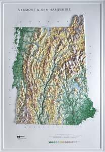 New Hampshire State Map (Hubbard Scientific Raised Relief Map 959 Vermont New Hampshire State Map)