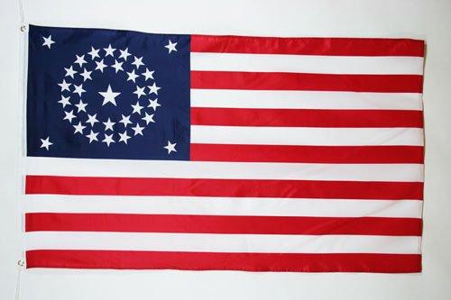 DRAPEAU USA ÉTOILES EN ROND 150x90cm - DRAPEAU AMÉRICAIN - ETATS-UNIS 90 x 150 cm - DRAPEAUX - AZ FLAG
