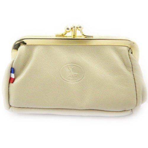 Frandi [L3764] - Porte-monnaie Cuir 'Frandi' beige