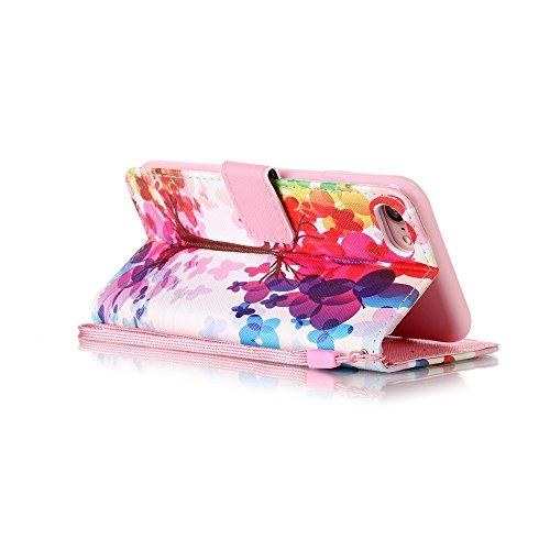 Custodia per iPhone 7 4.7,BtDuck Libro Stand Case Cover in PU pelle Borsa e Portafoglio Tasca Ultra Sottile Morbido Silicon Gel Back Case Bumper Cover Custodia in Premium PU Pelle per iPhone 7 4.7 Tel #5