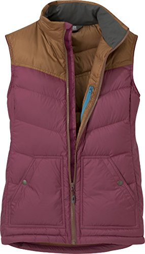 Outdoor Research Transcendent Down Women's Vest Garnet/Saddle M Outdoor Research-womens Vest