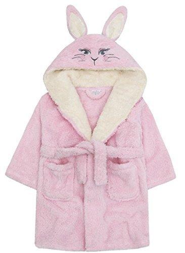 Rosa Baby Bademantel super weich Pl/üsch Fleece von 6 Monate bis 18 Monate Junge oder M/ädchen 6-12 Monate