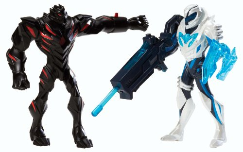 Mattel Y1407 - Max Steel Ms Battle Packclaw Dredd vs Blaster Max