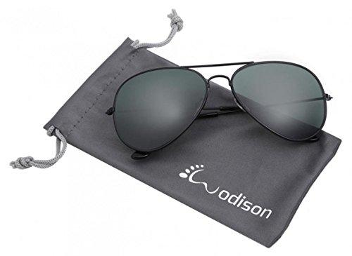 WODISON Weinlese-Flieger-Sonnenbrille-reflektierende Spiegel-Objektiv