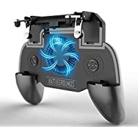WOXOT® Universal PUBG Gamepad for Mobile with Cooling Fan, 2000mAh Power Bank Gamepad Gaming pubg Fast Gaming 4 Finger Assistant for All Smartphone (Black)