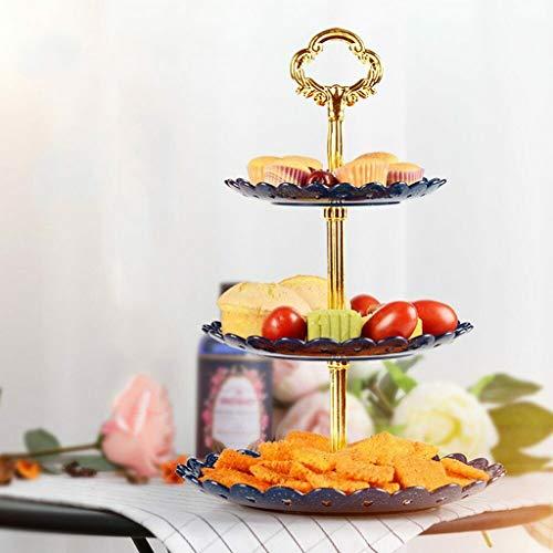 Todidaf, 3-stöckiger Cupcake-Ständer für Kuchen, Dessert, Hochzeit, Event, Party, Tortenständer für Tee, Party, Hochzeiten, Weihnachten, Thanksgiving, Heimdeko, 14,5 x 18 x 22 cm Schwarz -